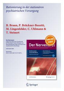 Der Nervenarzt – Rationierung In der der stationären psychiatrischen Versorgung - B. Braun