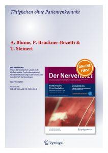 Der Nervenarzt – Tätigkeiten ohne Patientenkontakt