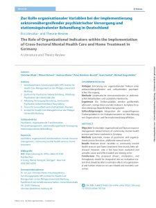Zur Rolle organisationaler Variablen - The Role of Organizational Indicators - C. Klode_page-0001